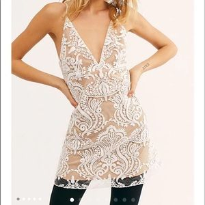 Free People sequin lace dress